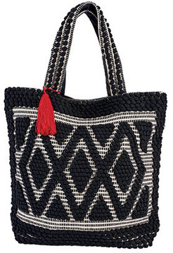 Women's San Diego Hat Company Woven Darie Shopper Bag BSB3545