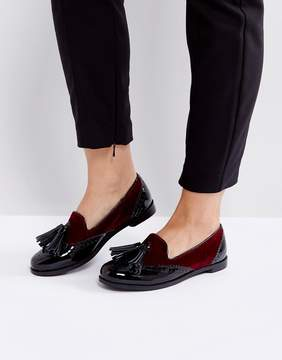 Park Lane Contrast Velvet Leather Loafer