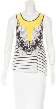 Emma Cook Silk-Blend Printed Top