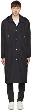 Ami Alexandre Mattiussi Black Long Nylon Raincoat