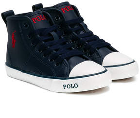 Ralph Lauren lace up hi-top sneakers