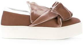 No.21 bow slip-on sneakers