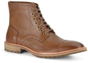 Andrew Marc Lace-Up Leather Ankle Boots