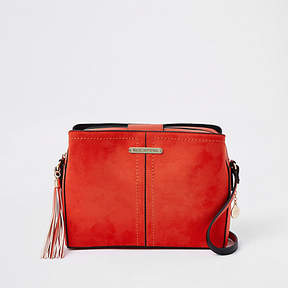 River Island Red triple compartment cross body bag