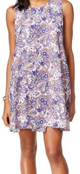 BCBGeneration Women's Sleeveless Printed Shift Dress (Blue Lagoon, S)
