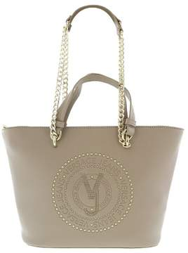 Versace EE1VRBBQ7 Light Brown Tote Bag W/ chain strap