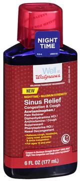 Walgreens Sinus Relief Congestion/Cough Nighttime Liquid