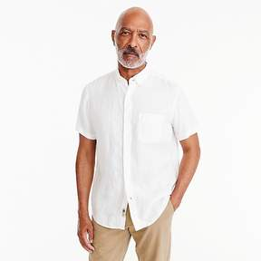 J.Crew Short-sleeve Irish linen shirt in white