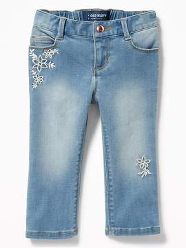 Old Navy Floral-Embroidered Jeans for Toddler Girls