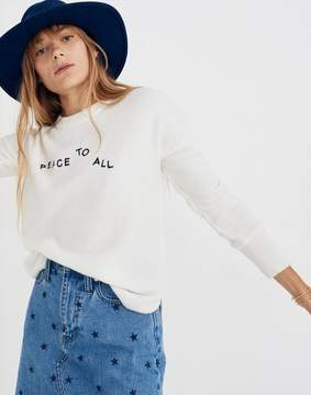 Madewell Peace To All Sweater