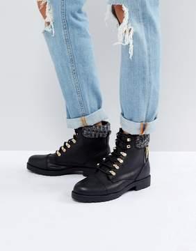 New Look Black Hiker Boot