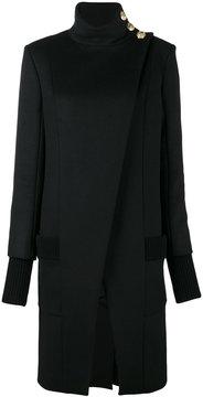 Balmain asymmetric crossover coat