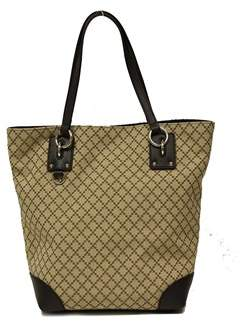 Gucci Diamante Canvas Tote Bag W/d Ring Detail. - BEIGE - STYLE