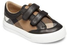 Burberry Toddler's Heacham Leather-Trim Check Sneakers