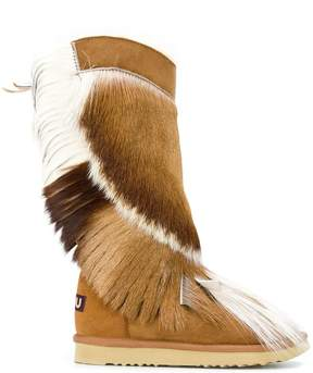 Mou fringed boots