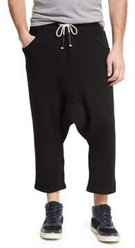 Mostly Heard Rarely Seen Drop-Inseam Long Drawstring Shorts, Dark Gray