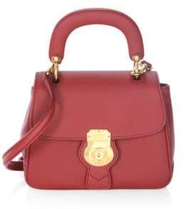 Burberry Antique Leather Top Handle Bag - ANTIQUE RED - STYLE