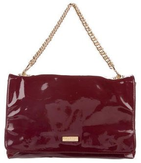 Halston Patent Leather Flap Bag