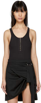 Alexander Wang Black Stretch Rib Bodysuit