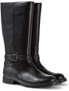 Geox Sofia Tall Black Leather Boots
