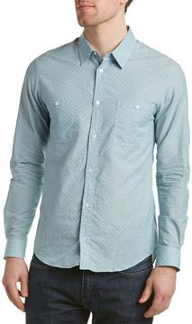 Sandro Goldfish Linen-Blend Woven Shirt