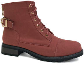 Bamboo Mauve Battle Boot - Women