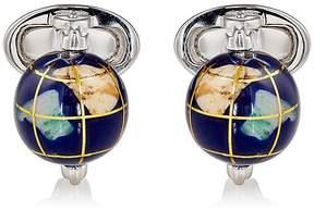 Jan Leslie Men's Spinning-Globe Cufflinks