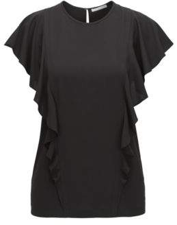 BOSS Hugo Ruffled Top Ipapilia 0 Black