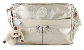 Kipling Angie Metallic Shoulder Bag - PEWTER - STYLE