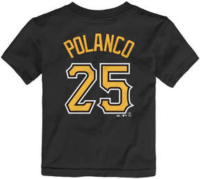 Majestic Toddlers' Gregory Polanco Pittsburgh Pirates Player T-Shirt