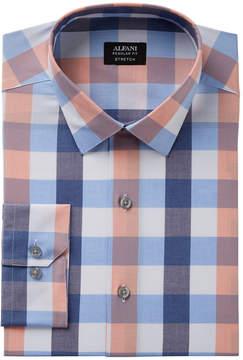 Alfani Men's Regular Fit Stretch Large Gingham Pattern Dress Shirt, Created for Macy's