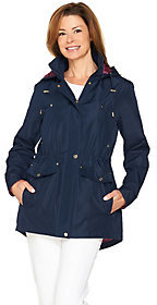 C. Wonder As Is Water Resistant Zip Anorak with Removable Hood