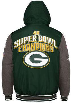 Authentic Nfl Apparel Men's Green Bay Packers Top Brass Commemorative Jacket