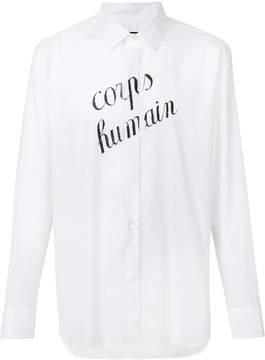 Ann Demeulemeester Corps Humain print shirt