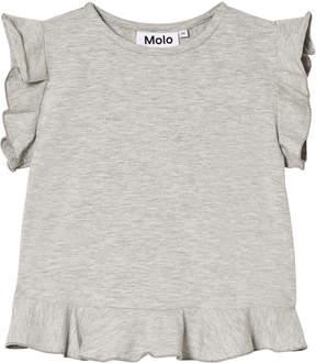 Molo Light Grey Melange Short Sleeve Rabia T-Shirt