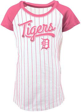 5th & Ocean Detroit Tigers Pinstripe T-Shirt, Girls (4-16)