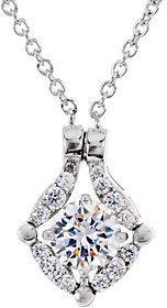 Diamonique Convertible Necklace, Platinum Clad