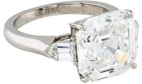 7.12 carat square emerald cut diamond