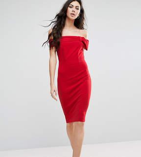 Bardot City Goddess Tall Dress With Bow Detail