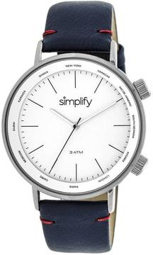 Simplify The 3300 Collection SIM3302 Silver Analog Watch