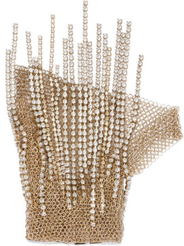 Lanvin Gold-tone Crystal Glove