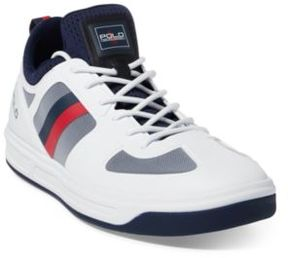 Ralph Lauren Court 200 Mesh Sneaker Pure White/French Navy 10