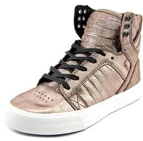 Supra Skytop Round Toe Leather Sneakers.