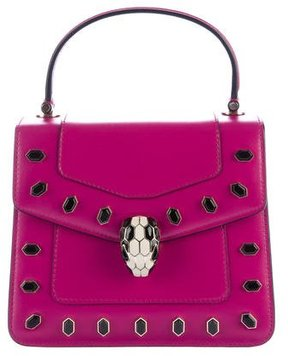 Bvlgari Embellished Serpenti Forever Flap Cover Bag