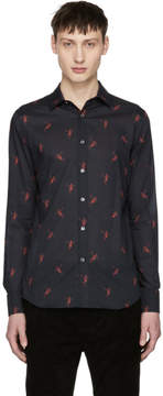 Alexander McQueen Black All Over Dancing Skeleton Shirt