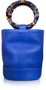 Simon Miller Cobalt Blue Leather Bonsai 20cm Bag