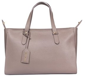 Borbonese Women's Grey Leather Tote.