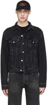 Balenciaga Black Classic Denim Sinners Jacket