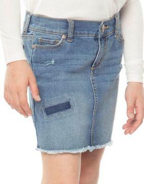 Dex Girls Distressed Denim Skirt