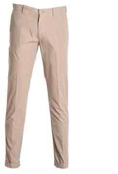Berwich Men's Beige Cotton Pants.